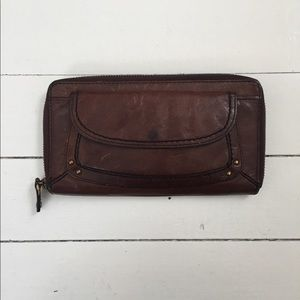 Fossil Wallet brown with gold